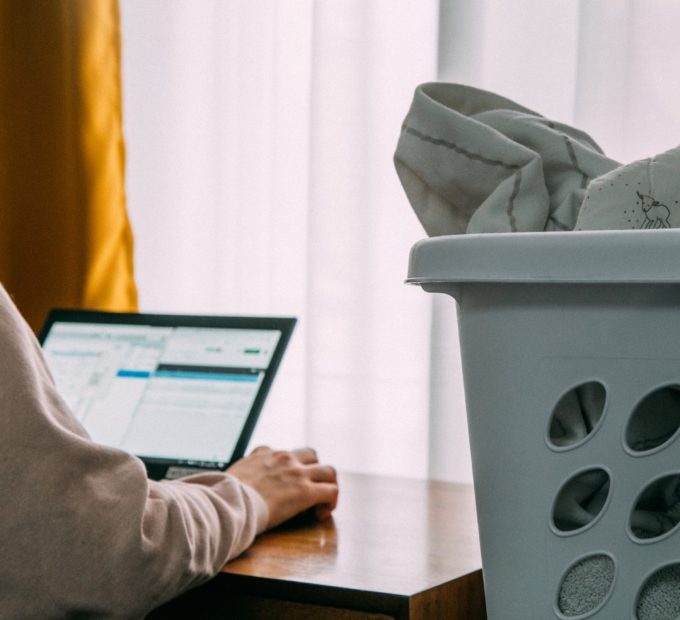 Is that laundry I see in your home office?!